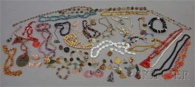 303: Group of Mostly Hardstone Jewelry, including beade