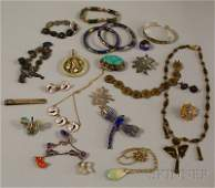 313: Small Group of Asian Jewelry, including a pair of