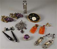 327A Small Group of Assorted Jewelry including a pair