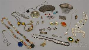 401A Small Group of Mostly Sterling Silver and Costume