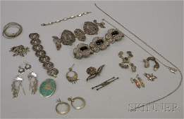 419: Small Group of Mostly Sterling Silver Jewelry, inc