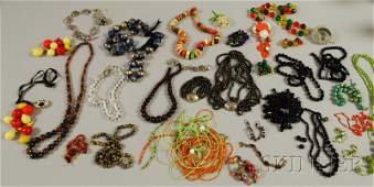 446 Collection of Beaded Jewelry including Murano gla