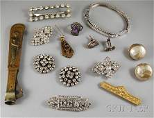 Small Group of Jewelry and Accessory Items, inclu