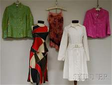 681 Group of Ladys Clothing and Two Chinese Porcelain