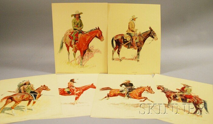 718: After Frederic Remington (1861-1909) Set of Six Pe