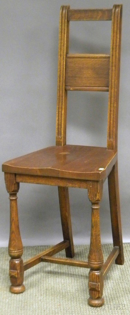 721: Barber Bros. Chair Co. Oak Desk Chair, Hastings, M