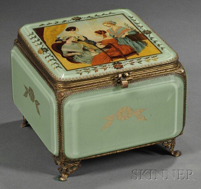 723: Decoupage and Reverse-decorated Jewel Casket, Fran