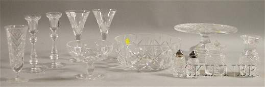 888: Twelve Waterford Colorless Cut Crystal Table Items