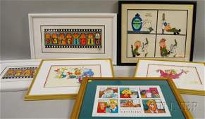 1111 Five Framed Limited Edition Serigraph Cels and a