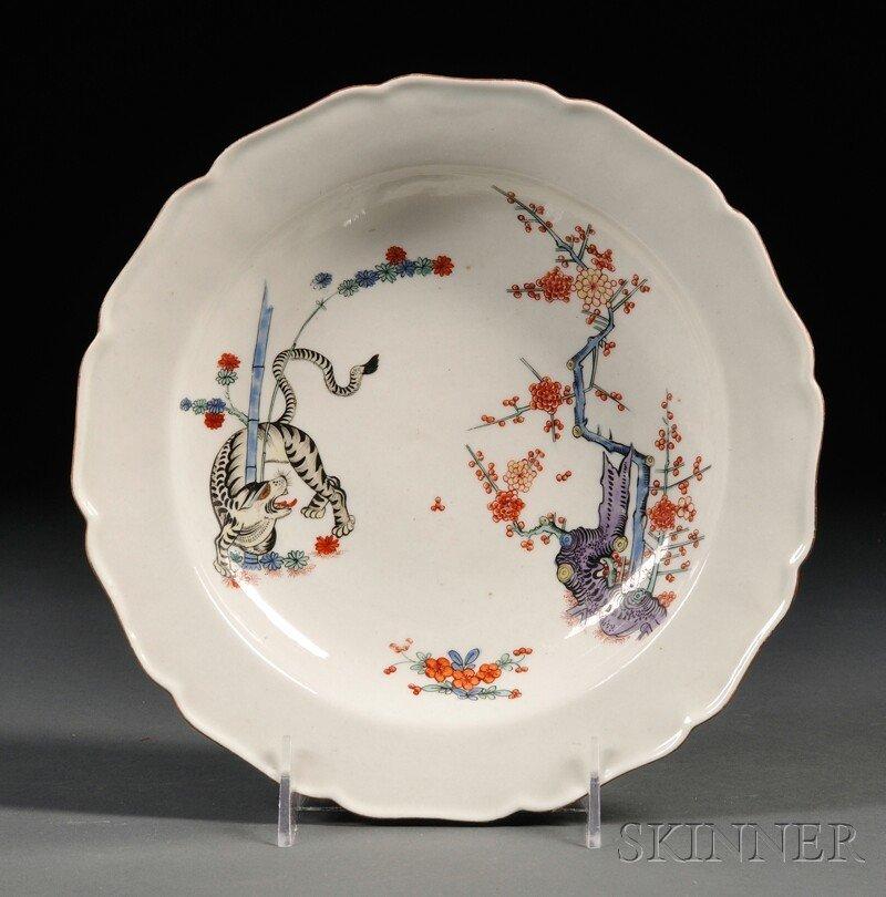 2: Chamberlain's Worcester Porcelain Shallow Bowl, Engl