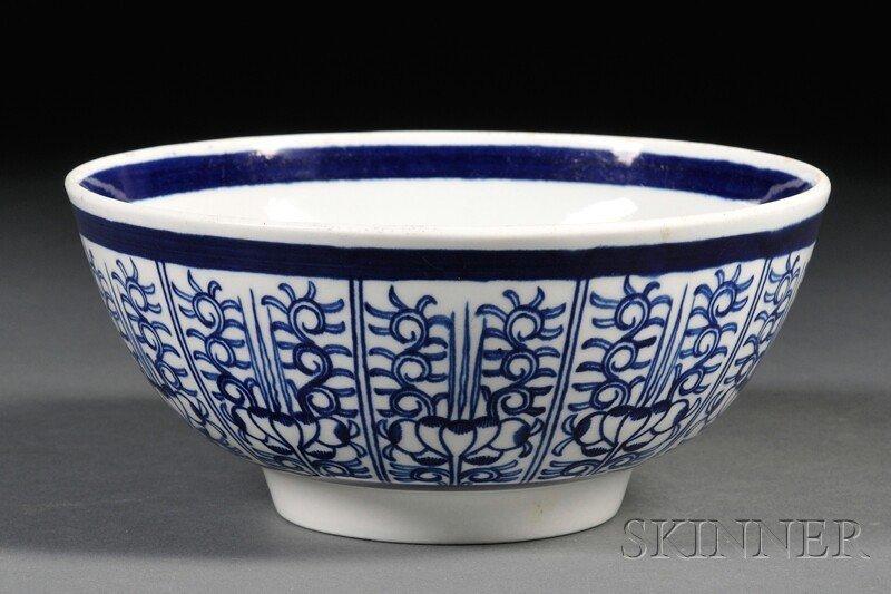 5: Dr. Wall Period Worcester Porcelain Bowl, England, l