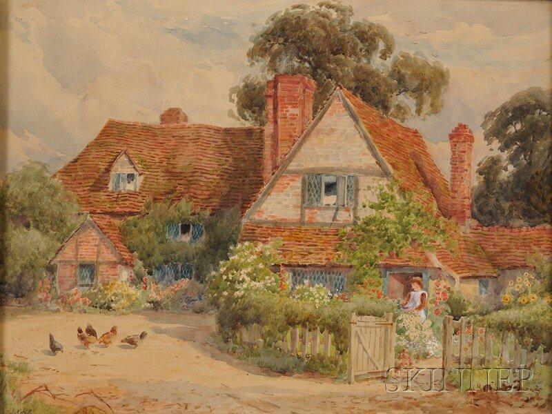 10: Alfred A. Waters (British, 1849-1912) A Bit of Rura