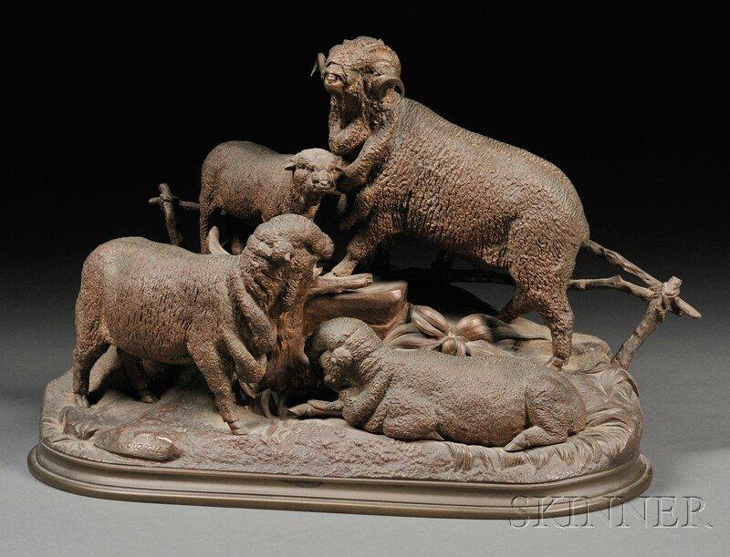 12: Jules Moigniez (French, 1835-1894), Bronze Figure o