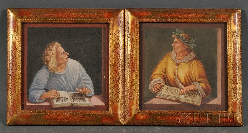 18: Lot of Two Watercolors After Signorelli, Italian Sc