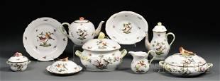 176: Herend Rothschild Pattern Porcelain Dinner Service