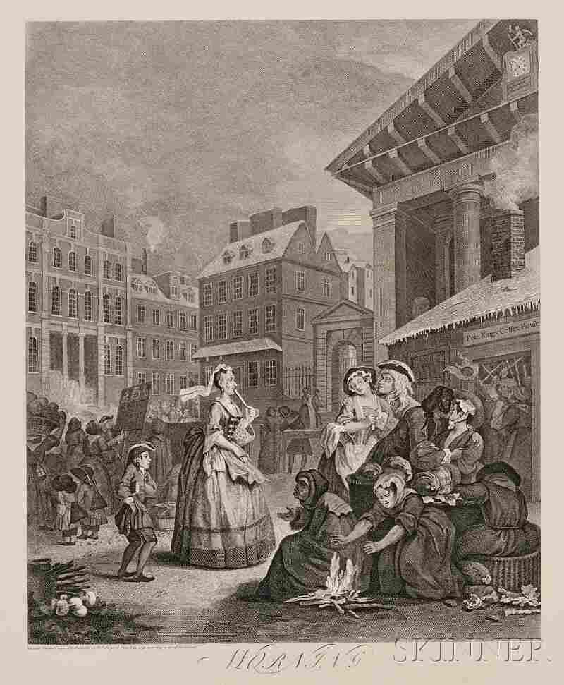 299: William Hogarth (British, 1697-1764), The Four Tim