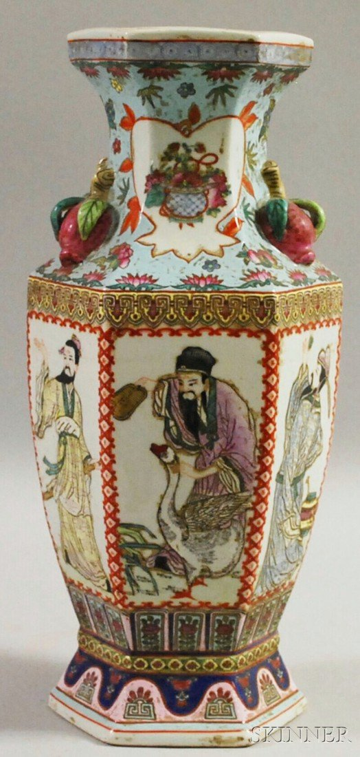 6: Modern Asian Enamel-decorated Porcelain Paneled Balu
