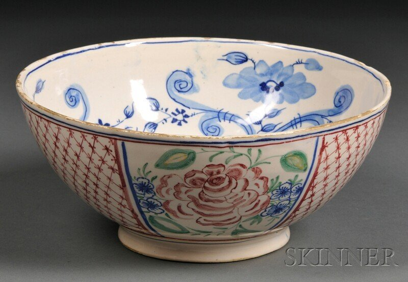 15: Tin-glazed Earthenware Bowl, 18th/19th century, the