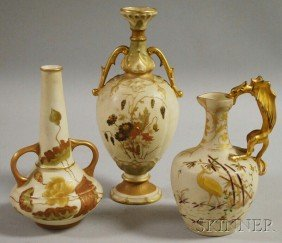 Three Austrian And Austrian-style Porcelain Articl