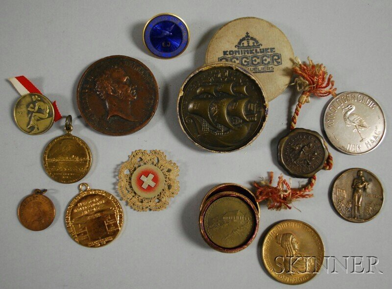 169: Small Group of Mostly European Medals and Badges,