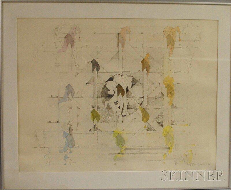 180: Keiji Usami (Japanese, b. 1940) Untitled [Fragment