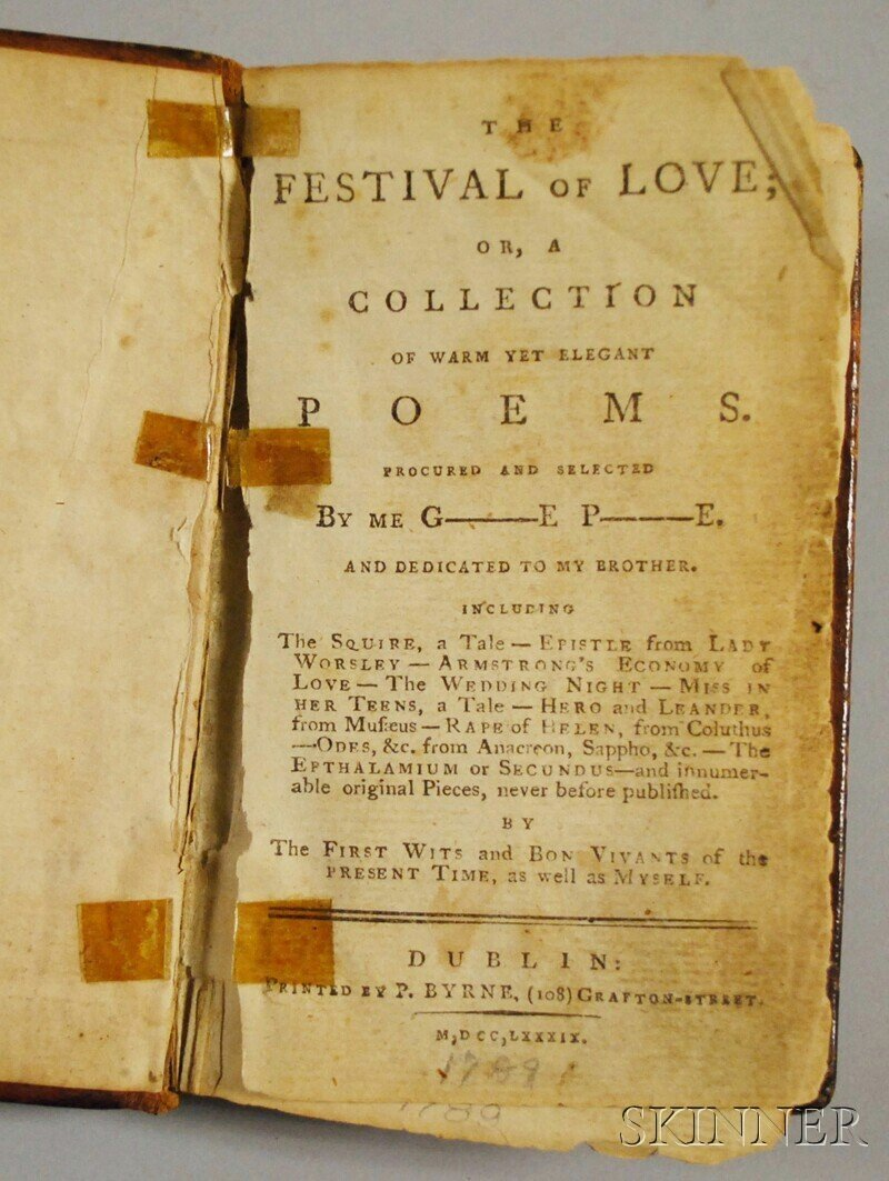 182: (Poetry, Anthology), The Festival of Love; or, a C