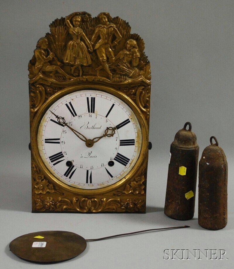 191: Berthoud Morbier Clock, Paris, France, pressed bra