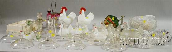 366 Lot of Late Victorian and 20th Century Glass Items
