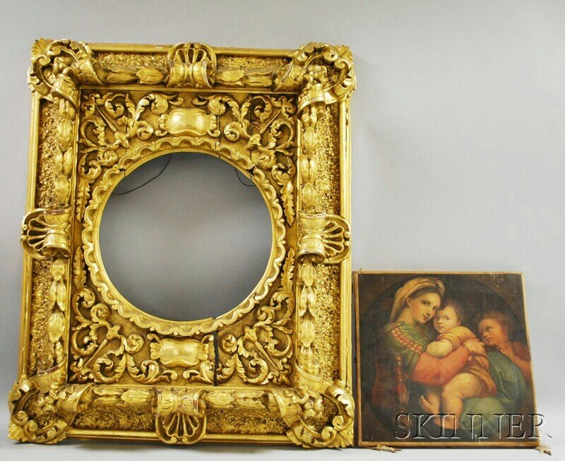 449: Rococo Revival Carved Giltwood Frame, 19th century