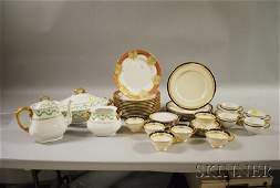 463 Three Partial Sets of Decorated Porcelain Dinnerwa