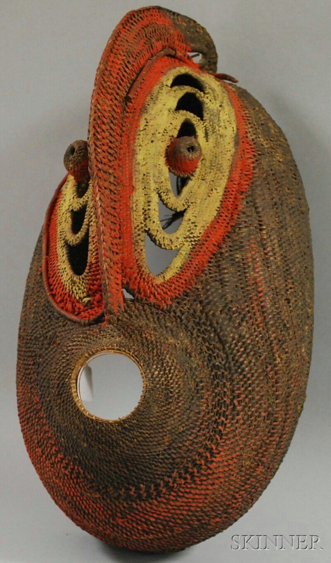 501: New Guinean Painted Basketry Mask.