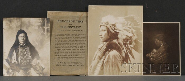 503: Three American Indian Portrait Photographs, one of