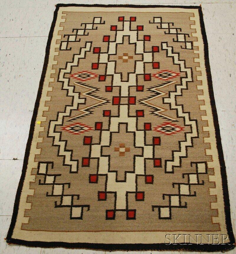 507: Navajo Rug, with stepped diamond pattern.