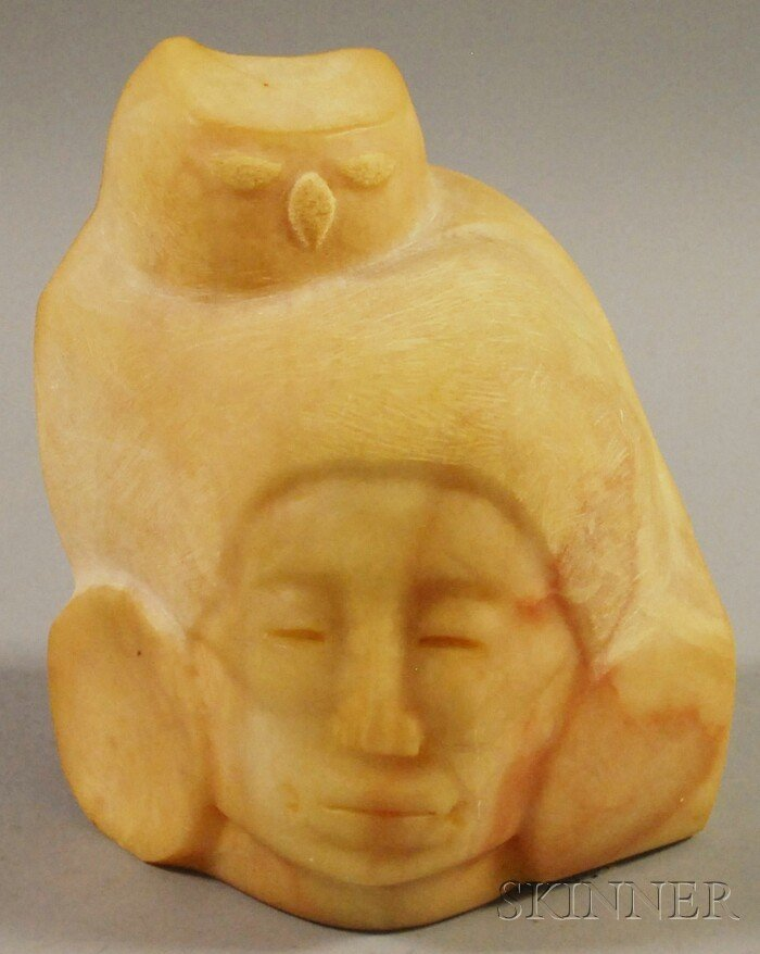 509: Contemporary Native American Carved Stone Sculptur
