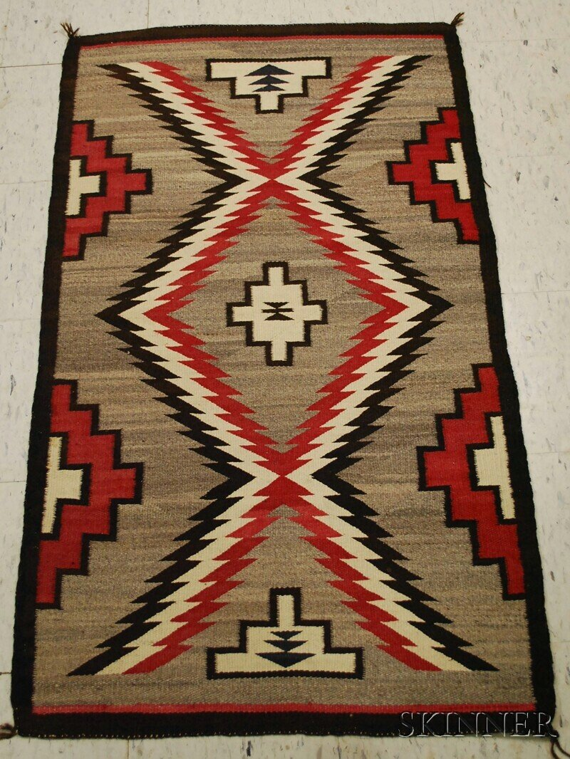 511: Navajo Rug, with serrate diamond pattern.
