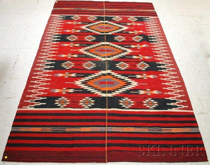 514: Mideast Polychrome Wool Blanket.