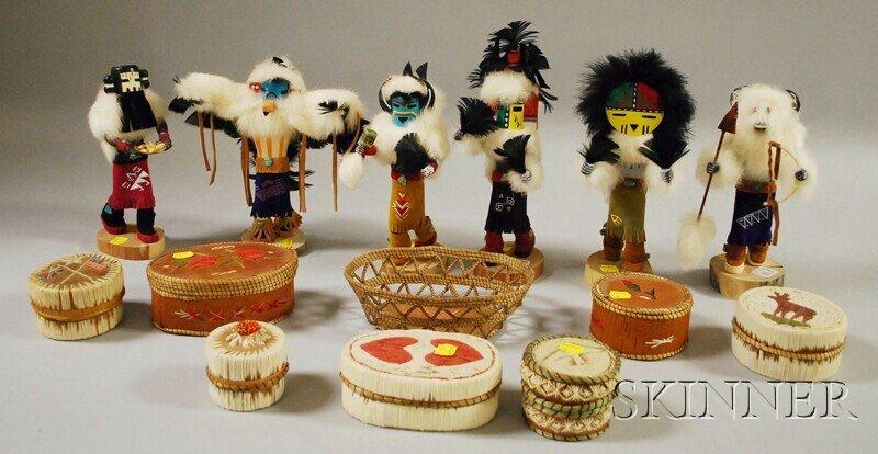 517: Six Modern Kachinas and Eight Native American Birc