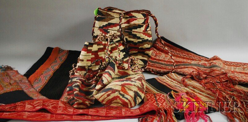 521: Group of Ecuadorian and Indian Woven Items, includ