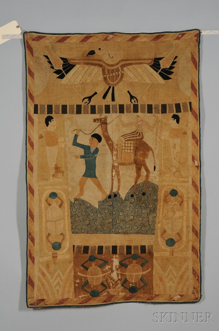 522: Egyptian Applique, c. 1900, made by tent makers.