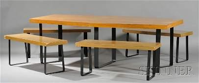 686: Mid-century Modern Custom Wood Veneer and Metal Di