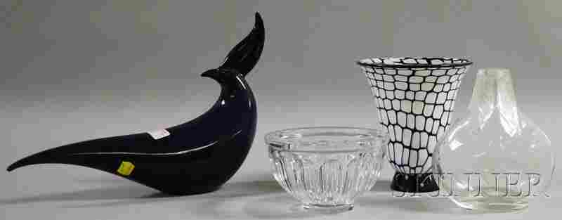 724: Four Mid-century Art Glass Items, a Barovier & Tos