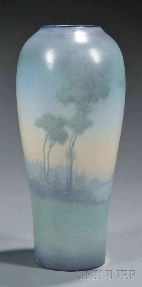 804: Rookwood Pottery Scenic Vellum Decorated Earthenwa
