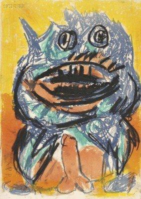 Karel Appel (Dutch, 1921-2006) Image For ONE CENT LI