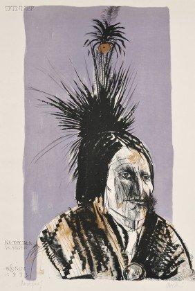 Leonard Baskin (American, 1922-2000) Pea-Tuy Tuck -