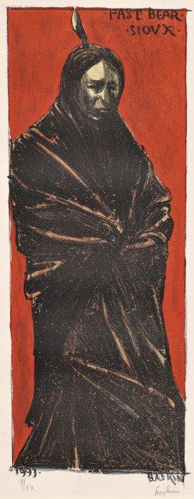 Leonard Baskin (American, 1922-2000) Fast Bear - Si