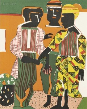 Romare Bearden (American, 1911-1988) Conjunction, 1