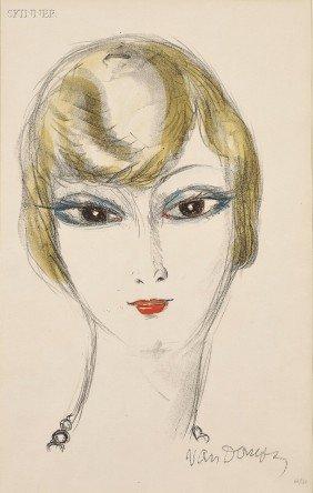 Kees Van Dongen (Dutch, 1877-1968) Young Girl, From