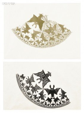 M.C. Escher (Dutch, 1898-1972) Two Impressions: The