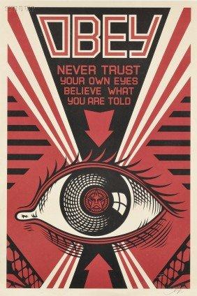 Shepard Fairey (American, B. 1970) Three Posters: O