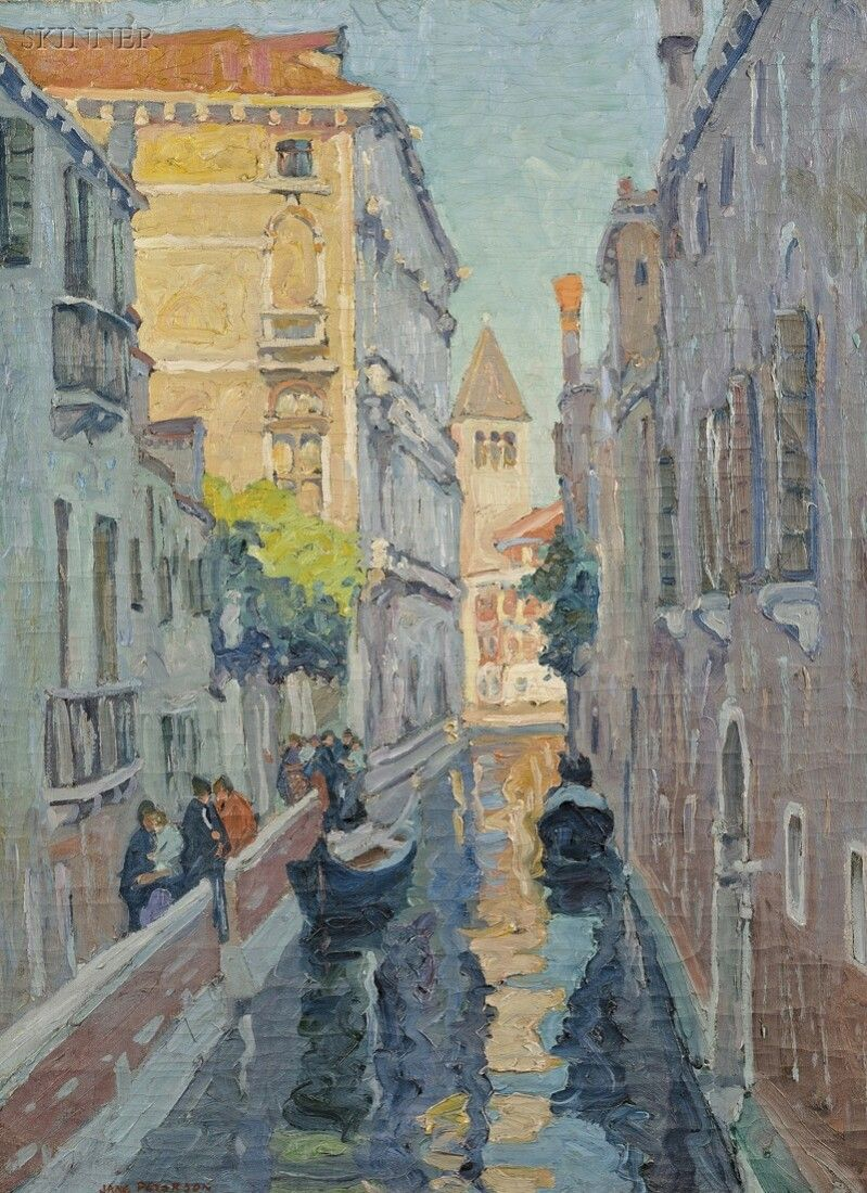 532: Jane Peterson (American, 1876-1965) Canal Venice S